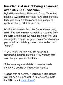 Covid scams